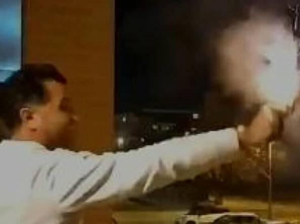 Leonardo Iaccarino ripreso in un video mentre spara a Capodanno