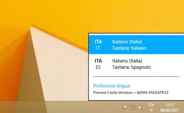 layout tastiera Windows 8