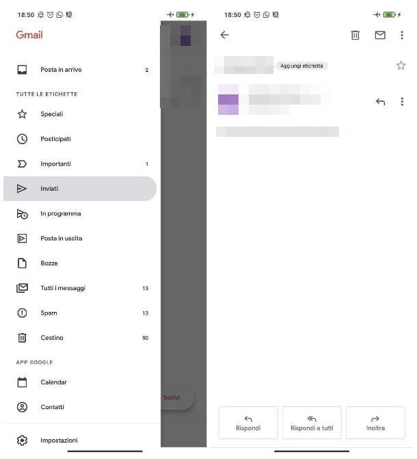 Rinviare una mail con Gmail