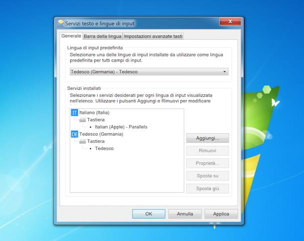 Input layout tastiera Windows 7