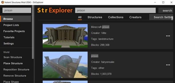 Costruire una prigione su Minecraft con ISM