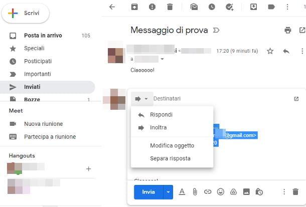 Come rinviare una mail da PC