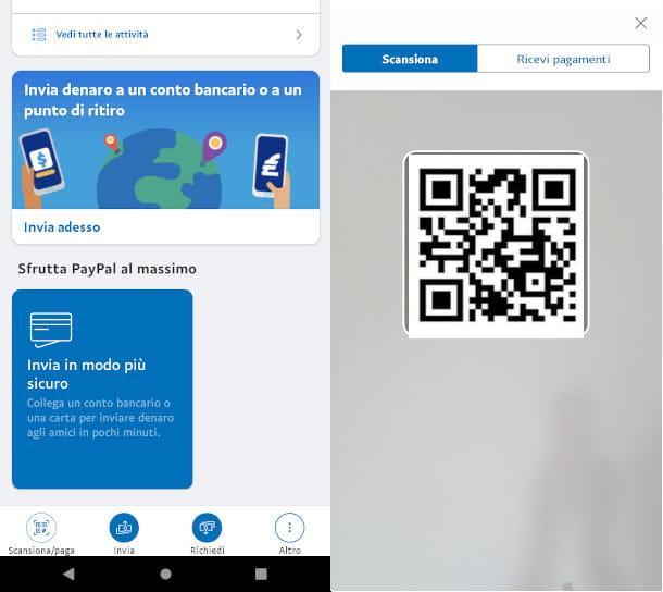 PayPal pagamento QR code