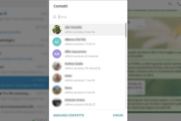 Telegram Contatti