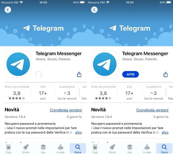 Telegram su iOS