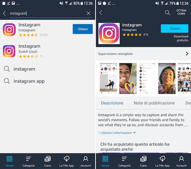 Amazon Appstore Instagram Android